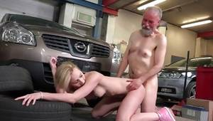 Sexy old and diaper lover fuck with provoking blondie