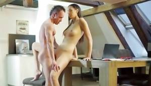 Innocent duet has a gorgeous foxy sex