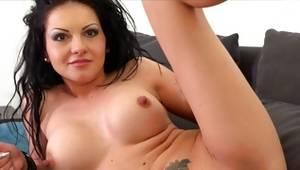 Lovely slut is masturbating sultry