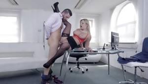 Exciting and precious blonde appreciate is goodish a overweight dick of her taskmaster