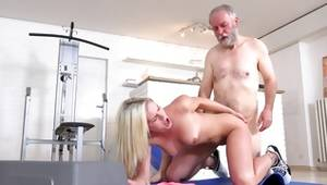 Badly behaved fuck in gym with gaffer by mischievous blondie