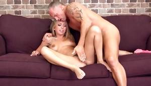 Intense and nice-looking hotty is allowing her male to feel a tightness of her wet crack