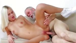 Blonde sluttish slut is riding on the mature rod