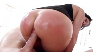 Nice slut is messed up with oily huge sugar-plum