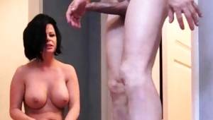 Brunette amazing bitch sucks a rock hard dong