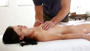 Brunette glory massaged by kinky dude